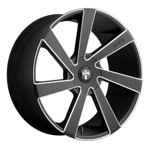 DIRECTA 20x8.5 5x114.30/5x120.00 MATTE BLACK MILLED (35mm)