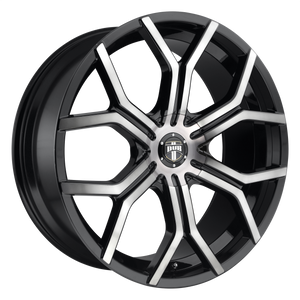 ROYALTY 22x9.5 6x135.00/6x139.70 GLOSS MACHINED DOUBLE DARK TINT (30mm)