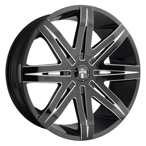 STACKS 22x9.5 6x135.00/6x139.70 GLOSS BLACK MILLED (30mm)