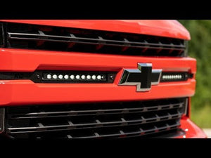 Chevy Dual 10in LED Grille Kit Chrome Series (19-20 Silverado 1500)