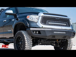 Toyota Mesh Grille w/30in Dual Row Black Series LED w/ Cool White DRL (14-17 Tundra)