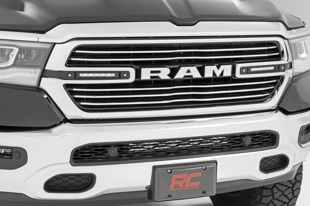 Dodge Dual 6in LED Grille Kit Chrome Series (19-20 RAM 1500)
