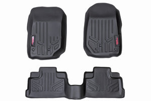 Rough Country Heavy Duty Floor Mats - Front & Rear Combo (07-18 JK Unlimited Models)