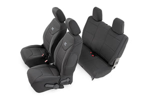 Rough Country Jeep Neoprene Seat Cover Set / Black (11-12 Wrangler JK / 2 Door)