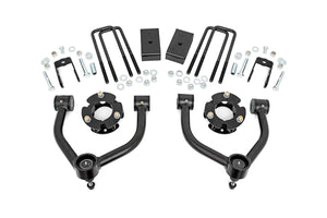 Rough Country 3-inch Bolt-On Suspension Lift Kit w/ Upper Control Arms