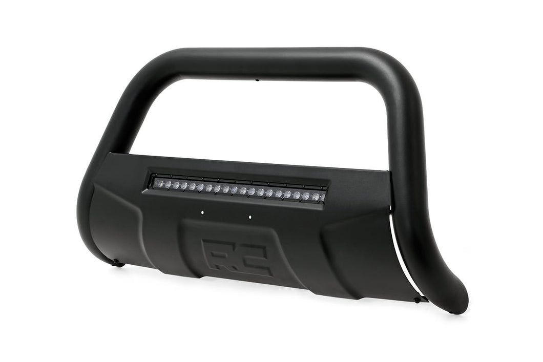Rough Country Black Bull Bar w/ Integrated Black Series 20-inch LED Light Bar