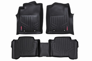 Rough Country Heavy Duty Floor Mats - Front & Rear Combo (Double Cab Models)