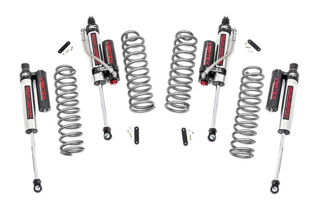 2.5in Jeep Suspension Lift Kit w/ Vertex Adjustable Reservoir Shocks (07-18 Wrangler JK Unlimited 4-door)