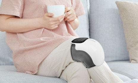 ELECTRIC HEATED VIBRATING KNEE MASSAGER FOR PAIN RELIEF