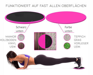 Effektive Bodyweight Fitness Slider - GALAXY of HOME