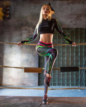 Laden Sie das Bild in den Galerie-Viewer, High-Waist Leggings 'Leguana' - GALAXY of HOME