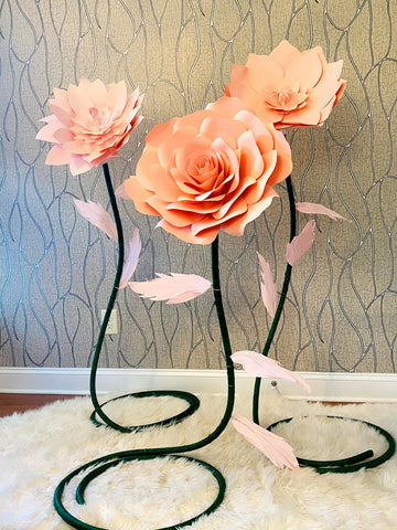 3 Standing Flowers stands