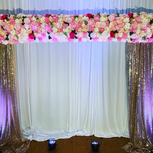 """Champagne"" Floral Backdrop (Call for Variants)"