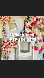 """Princely"" Floral Backdrop"