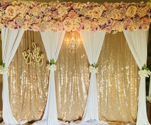 """Glam & Glitter"" Backdrop (Call for customization)"
