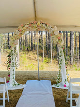 "Load image into Gallery viewer, ""Blessed Wedding Arch"" walkthrough Backdrop"