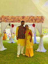"Load image into Gallery viewer, ""Canopy Mandap Chuppa "" Floral Backdrop"