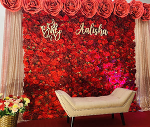 """Blush Red"" Floral Backdrop (Call for Variants)"