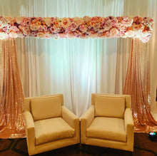 "Load image into Gallery viewer, ""Champagne"" Floral Backdrop (Call for Variants)"
