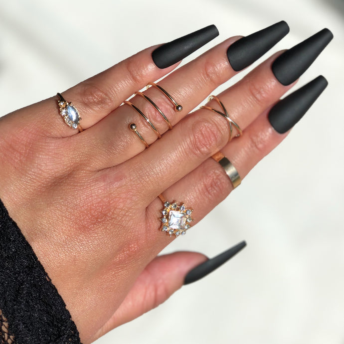 Knuckle Ring Set 5pc/Style 1