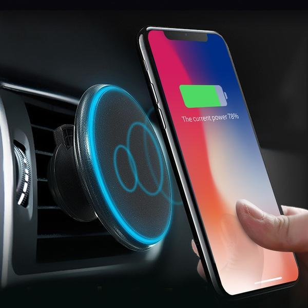 2 In 1 Magnetic Wireless Car Charger And Mobile Phone Holder