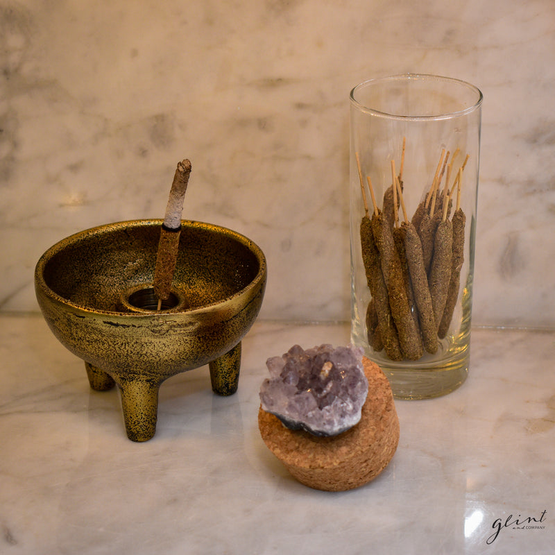 Incense Jar with Precious Stone