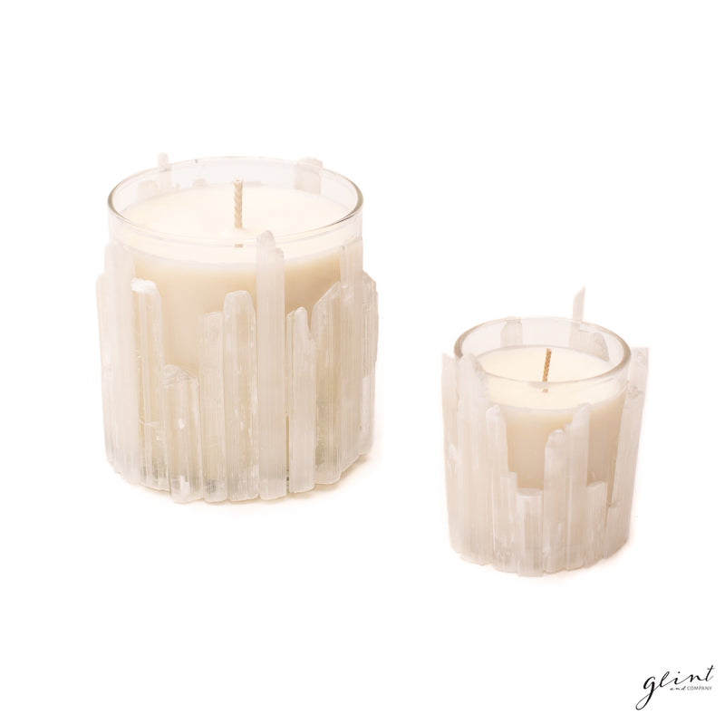 Selenite Candle Unscented 10 oz