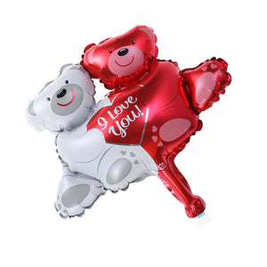 1 Pc Balloon Cute  Bears Mylar Romantic Wedding Supplies Aluminum Foil Balloon For Bridal Room Party Wedding Valentines Day