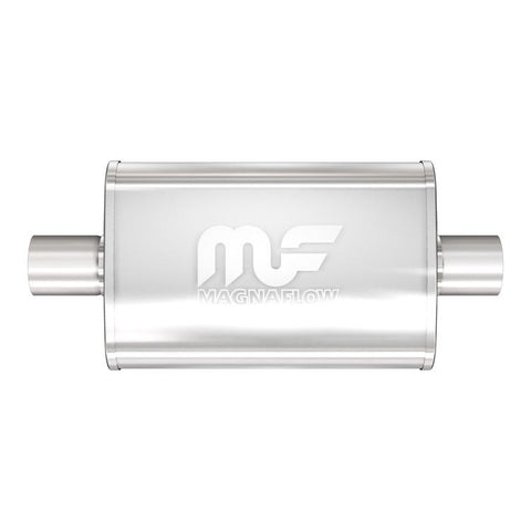 "MagnaFlow #11219 - 4"" X 9"" Oval Center/Center Straight Through Performance Muffler 3"" I/O"