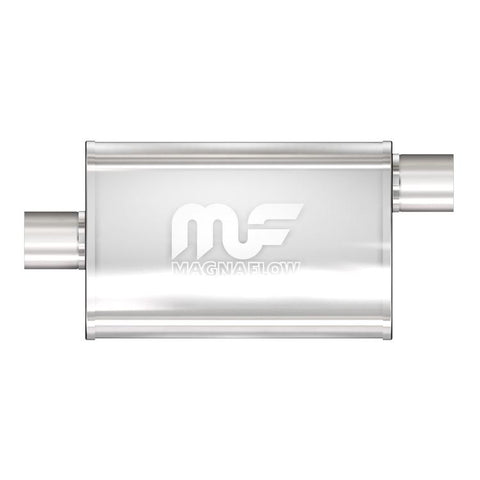 "MagnaFlow #11226 - 4"" X 9"" Oval Center/Offset Straight Through Performance Muffler 2.5"""