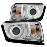 Anzo #121311 2010-2013 Chevrolet Camaro Projector Headlights Chrome w/ Halo (SMD LED)