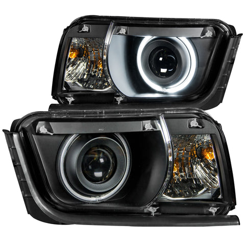 Anzo # 121312 2010-2013 Chevrolet Camaro  Projector Headlights Black w/ Halo (SMD LED)