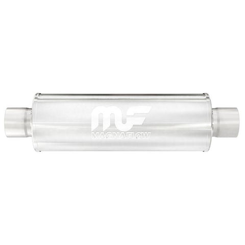 "MagnaFlow #14419 - 4"" Round Center/Center Straight Through Performance Muffler 3"" I/O"