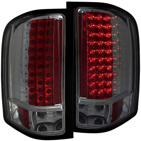 Anzo # 311159 - Chevy Silverado 1500 07-13 / 2500HD/3500HD 07-14 L.E.D Tail Lights Smoke
