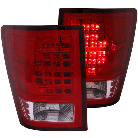 Anzo #311181 -JEEP GRAND CHEROKEE 07-10 L.E.D Tail Lights Red/Clear