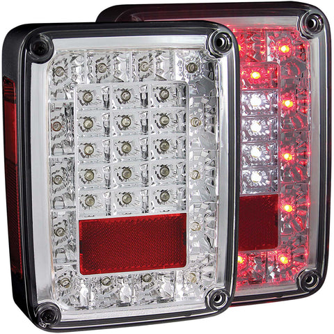 Anzo #311201 - JEEP WRANGLER (JK) 07-18 L.E.D Tail Lights Chrome