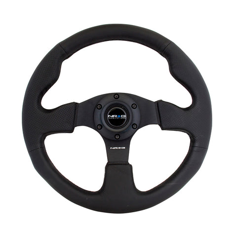 NRG Innovations RST-012R Type R style Steering Wheel - Leather - Black