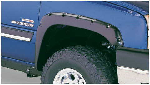 Bushwacker 40918-02 Black Pocket/Rivet Style Smooth 4-Piece Fender Flare Set for 2003-2007 Silverado (classic)