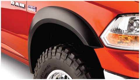 Bushwacker 50914-02 Black Extend-A-Fender Style Smooth Finish 4-Piece Fender Flare Set for 2009-2019 Dodge Ram 1500