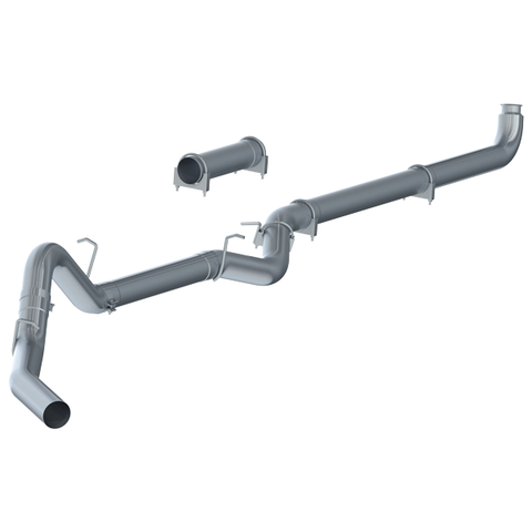 "P1 Race Exhaust C6004PLM 4"" Down Pipe Back, DPF Delete (includes front pipe) without muf 2007-2010 Chev/GMC 2500/3500 Duramax"