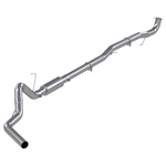 "P1 Race Exhaust C6045P 4"" Down Pipe Back, DPF Delete, without bungs, with muffler, AL 2015.5-2016 Chevy/GMC 2500/3500 HD"