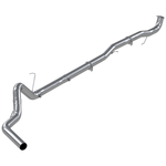 "P1 Race Exhaust C6045SLM 4"" Down Pipe Back, DPF Delete, without bungs, without muffler, 2015.5-2016 Chevy/GMC 2500/3500 HD"