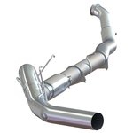 "P1 Race Exhaust C6146P 5"" Turbo Back, DPF Delete, no bungs, with muffler, AL 2010-2012 Dodge Ram 2500/3500 6.7L"