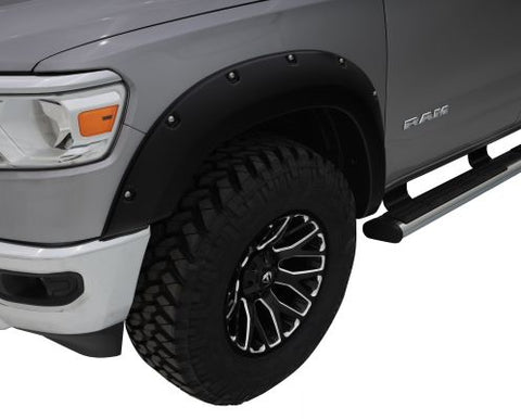 Bushwacker 50924-02 Black Pocket/Rivet Style Smooth Finish 4-Piece Fender Flare Set for 2019-2020 Ram 1500