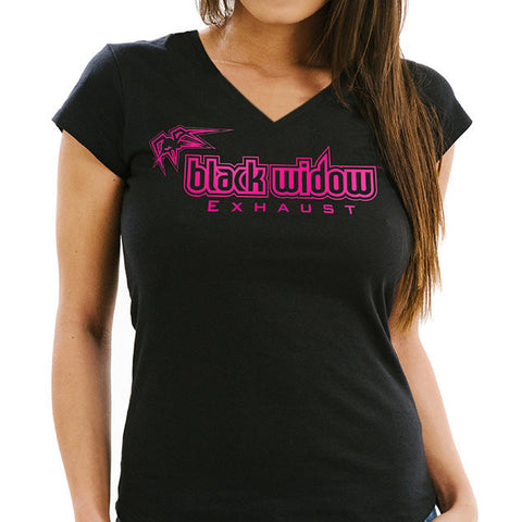 Black Widow Women's V Neck Shirt