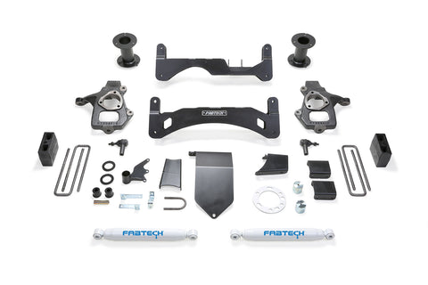 Fabtech #K1084 6″ Basic System GEN II W/ REAR Performance Shocks – 2014-18 Chevrolet / GMC 1500