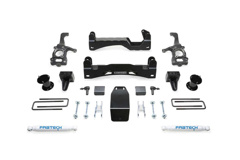 Fabteck #K2194 - 6″ Basic System w/ Performance Shocks – 2015-2020 FORD F150 4WD