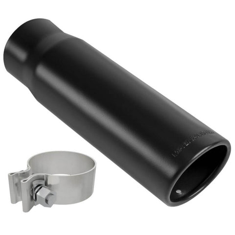 "Magnaflow 35234 - Black Series Round 15 Deg. Rolled Edge Stainless Steel Exhaust Tip (2.5"" ID/3"" OD)"