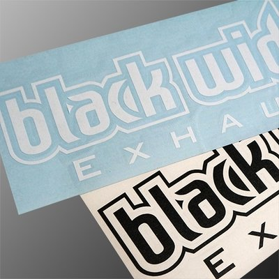 "Black widow 8"" Sticker"
