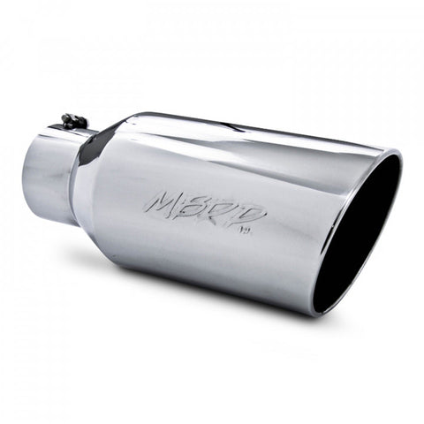 "MBRP T5129 T304 Stainless Steel 5"" Inlet 18"" Length 8"" Outer Diameter Rolled End Exhaust Tip"